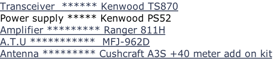 Transceiver  ****** Kenwood TS870